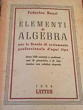 FEDERICO BOARI - ELEMENTI DI ALGEBRA 1954