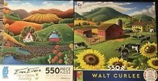 Lot Of 2 Ceaco Puzzles 550 Pieces Poster Included