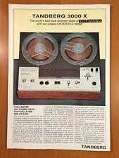 ORIGINAL TANDBERG 3000 X TAPE RECORDER SALES BROCHURE D157