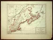 Carte géographique ancienne COTE NORD-EST DES ETATS UNIS par Chanlaire Mentelle