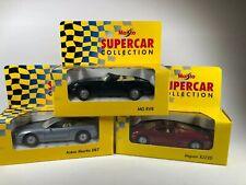 MAISTO SUPERCAR COLLECTION-MG RV8-Aston Martin DB7- JAGUAR XJ220-New In Boxes