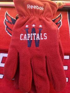 Washington Capitals Stanley Cup Champions Winter Classic Fleece Gloves XL