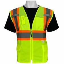Global Glove Frogwear Class 2 Front Mesh Safety Vest 3m Reflective Fabric Large