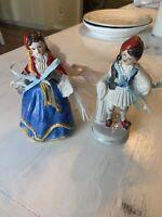 "porcelain figurines. Set Of 2.  6"" Each"