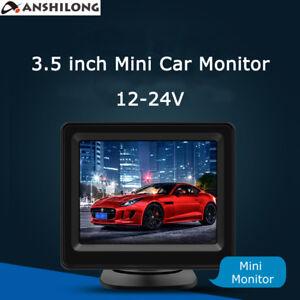 12-24V 3.5 inch TFT LCD Mini Car Vehicle Rear View in-dash Monitor 4:3 Screen