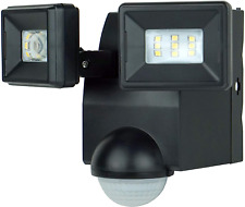New listing Lb1870Qbk 700 Lumen Battery Operated Led Motion Security Light, Twin Head for