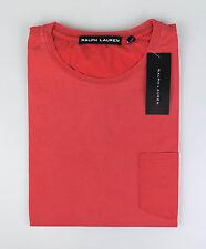 NWT RALPH LAUREN BLACK LABEL Coral Pink Cotton Crew Neck T-Shirt Size XL $85