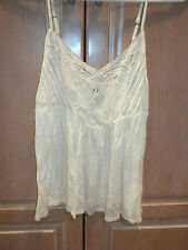 AMERICAN EAGLE OUTFITTERS BRAND  CREAM SLEEVELESS TANK SHIRT LADIES SIZE SMALL