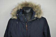 PRETTY GREEN CONTRAST QUILTED JACKET NAVY MENS size XL