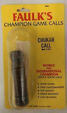 Vintage Chukar Call! Faulk's Champion  Calls! Mod. C-9-C! Unique old Rare Item!