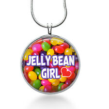 Jellybean GIRL necklace-candy jewelry,jelly beans,Nickname, granddaughter,girls