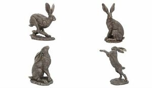 Country Art Bronzed Hare Ornament Figurine by Andrew Bill