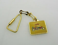 GORGEOUS SOLID 18K Yellow GOLD Enamel ANTIQUE CAR KEYCHAIN Key Chain 15.4 grams