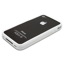 NEW WHITE STYLISH BUMPER SERIES CASE COVER FOR APPLE IPHONE 4 4S - IN STOCK - UK