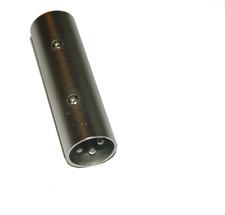 XLR Male - XLR male connector extender turn arround Barrel Adaptor 4011F