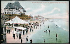 OLD ORCHARD ME MAINE Fisk House Beach Ferris Wheel Antique Flag Cancel Postcard