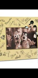 Disney Park Character Signature Autograph 4x6 Photo Frame Mickey Goofy Pluto New