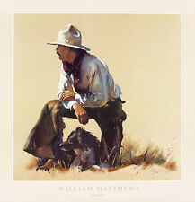 PARTNERSHIP FINE ART PRINT BY WILLIAM MATTHEWS cowboy farm dog western poster