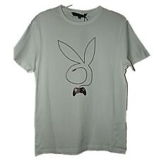 FAB NEW MENS PLAYBOY RETRO BUNNY GAMING CONTROLLER LOGO T-SHIRT SZ S CHRISTMAS
