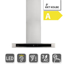 2. Wahl Dunstabzugshaube Wandhaube 60cm, Edelstahl, Schwarzes Glas, leise, touch