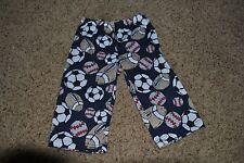 CARTERS Baby Boy Pajama Bottom Pants ~ Size 2 2T ~ Sports Balls