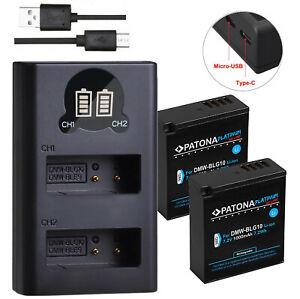 Akku für Panasonic DMW-BLG10 E | Patona Platinum | DUAL Ladegerät LCD | Lumix ua