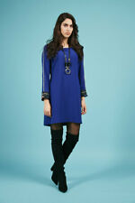 Badoo dress in cobalt blue with a tie belt and full length sleeve
