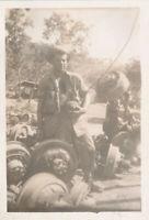 WWII 1944 Motor Pool GIs Mechanic's New Guinea Photo #8 unhooking an axel