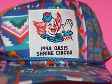 1994 OASIS Shrine Circus Patch Trucker Snapback New Old Stock