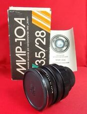LENS MIR 10A 3.5/28 New Soviet old stocks Made in USSR Wide Angel M42 NEVER USED