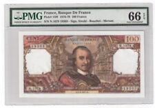 France 100 Francs Banknote 1976-79 Pick# 149f PMG GEM UNC 66