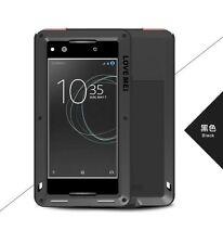 LOVE MEI Metal Waterproof Shockproof Glass Case Power Cover For Sony Xperia XA1