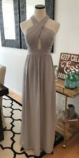 Lulus Grey Bridesmaid Formal Maxi Dress Gown Juniors Party Small