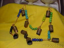 Miniature Cow Bells With Multi-Color Glass Beads