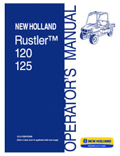 NEW HOLLAND NH RUSTLER 120 125 UTLITY VEHICLE OPERATOR`S MANUAL
