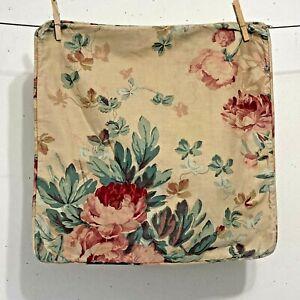 "Ralph Lauren ELSA GRASSLANDS Rose Floral Tan 16x16"" Square Throw Pillow Cover"