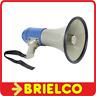 MEGAFONO PORTATIL 25W SIRENA Y MICROFONO MANOS LIBRES 8X1.5V DIAMET 230MM BD1637