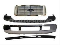 For 2005-2007 Super Duty F250 F350 Front Bumper Chrome Up Pad Grille valance