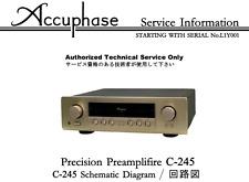 ACCUPHASE C-200, C-245 Schematic Service Manual Repair Schaltplan Schematique