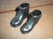 Vtg. Pair GI Joe Black Combat Boots - 1970s