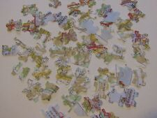 200 Travel Wedding jigsaw Map Table Confetti Ivory Bride & Groom Custom colours