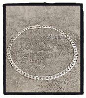 Bracelet Maille Gourmette diamantée Ultra Plate 21CM En Argent Massif 925/1000