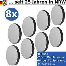 Magnete Edelstahl f. Magnettafel Pinnwand Magnet Küche Kühlschrankmagnet flach