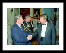 Donald Trump and President Ronald Reagan 11x14 Photo Print US USA