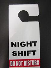 DO NOT DISTURB DOOR HANGER SIGN , NIGHT SHIFT