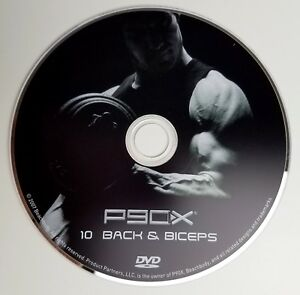P90X DVD Back and Biceps Beachbody The Workouts Disc 10