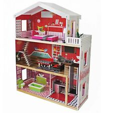 TikTakToo XXL Barbie Puppenhaus Residenz Luxus Barbiehaus aus Holz