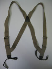 "1 1/2"" & 2"" Side Grip MEN'S Suspenders  Leather BUTTON-ON. MADE IN USA"