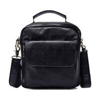 Real Leather Shoulder Bag For Men Business Crossbody Sling Messenger Bag SATCHEL