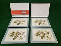 Pimpernel Traditional set of 4 place mats Birds And Berries Cork Backed 12 x 9